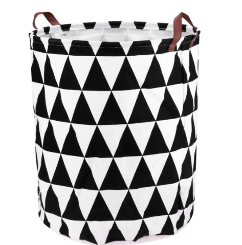 Large Storage Baskets - Black and White Triangle