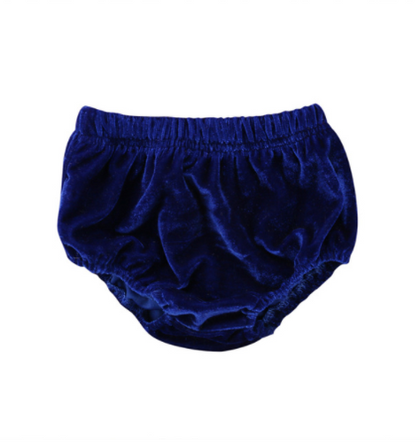 Velvet Bloomers - Blue