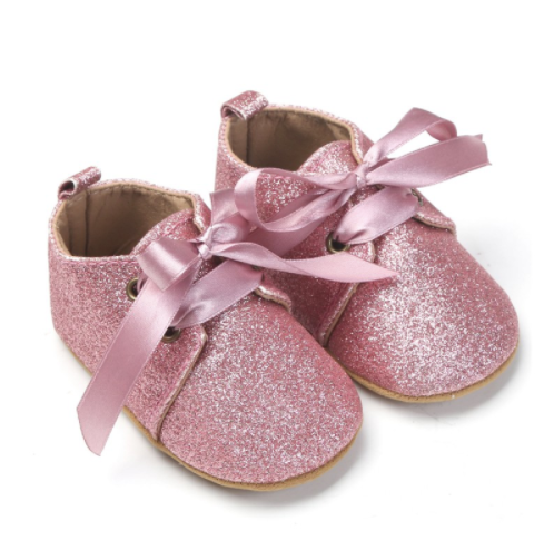 Glitter Pre Walker Shoes  - Pink