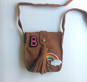 Hippy Bag - Brown -  customise with your choice of badges