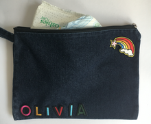denim pouch  - design your own!
