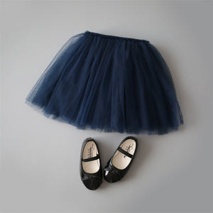 Princess Tulle Party Skirts - Navy
