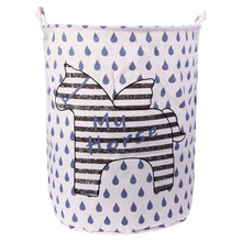 Large Storage Basket - Black & White Horse