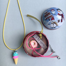Ice Cream Necklace -  you choose the ice cream & string colour!