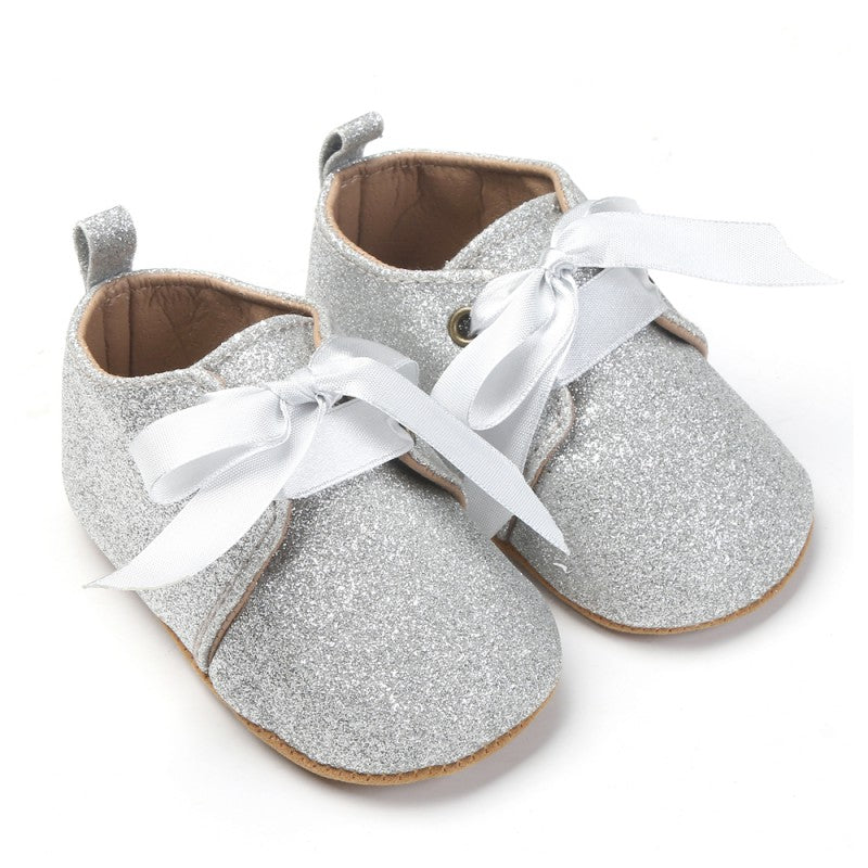 Glitter Pre Walker Shoes - Silver