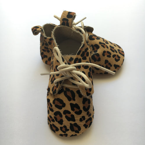 Leopard Print Baby Moccasins