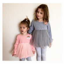 Long Sleeve Baby Doll Tutu top - Pink