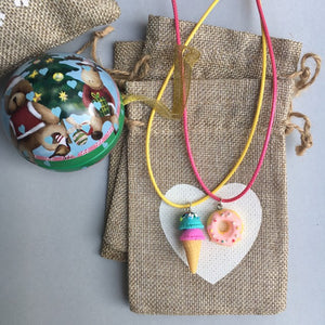 Heart Necklace -  you choose the heart & string colour!