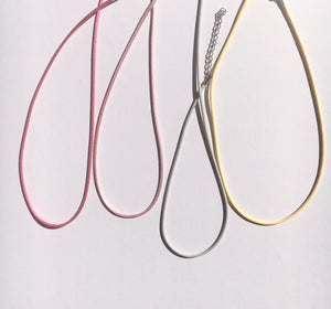 Rainbow Necklace - you choose the string colour!