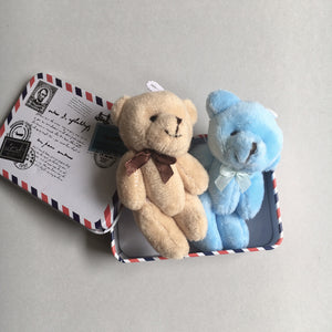 Top & Tail Teddies in a Tin  - You choose the Teddies