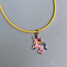 charm necklace - unicorn (you choose the cord & tin colour)