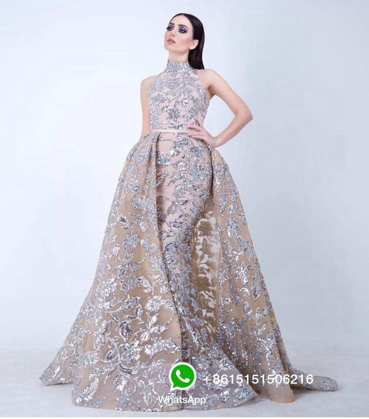 Real Photos Arabic A Line Floor Length Halter Custom Made Evening Dresses Party Dress Vestido De Festa 2017 from Yousef Aljasmi