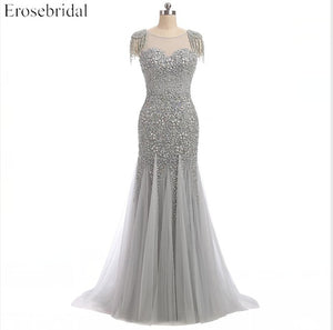 Evening Dresses Erosebridal Long Mermaid Prom Dress Sparkly Beading Bodice Formal Women Wear Sweep Train Vestido De Festa