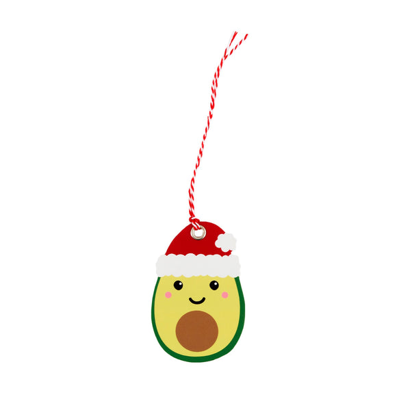 Avocado Natalizio Gift Tag - Set da 6