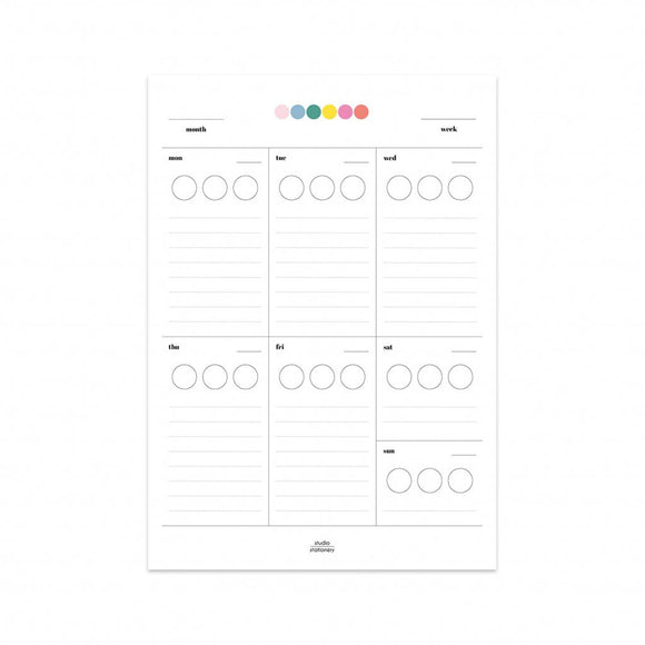 Planner settimanale A5 - Stick it