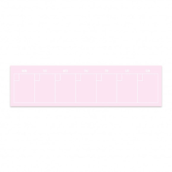 Post-it planner settimanale rosa