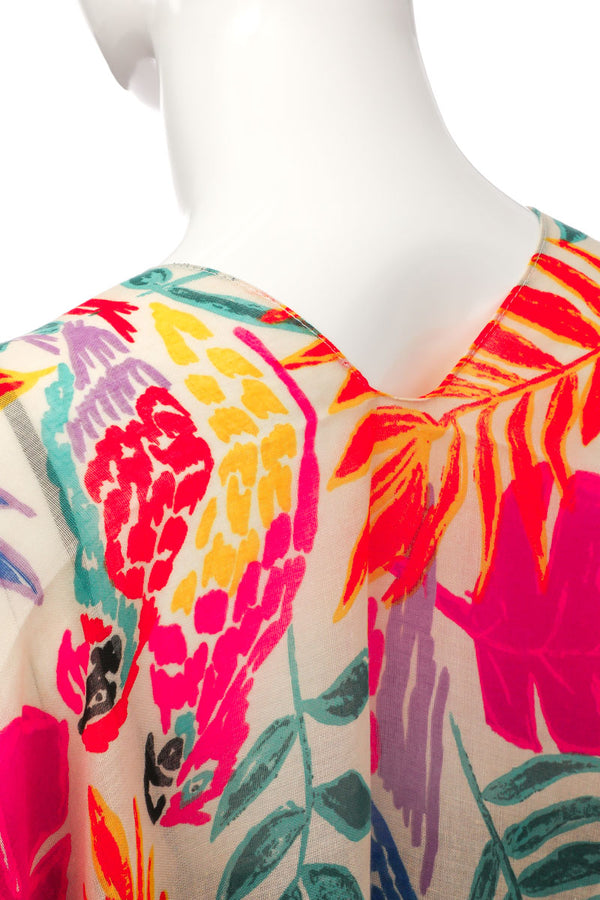 Sheer Tropical Forest Print Poncho - Custom Commodity