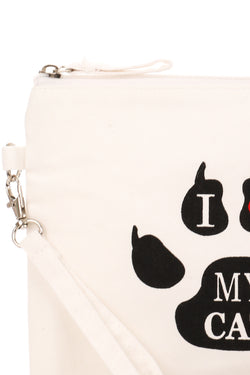 I Love My Cat Cosmetic Bag - Custom Commodity