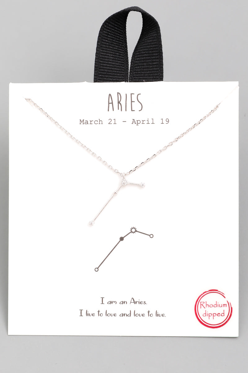 Zodiac Aries Constellation Necklace - Custom Commodity
