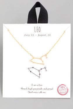 Leo Zodiac Constellation Necklace - Custom Commodity