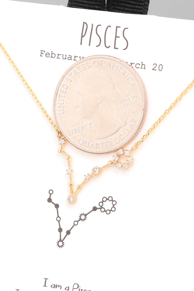 Pisces Zodiac Constellation Necklace - Custom Commodity