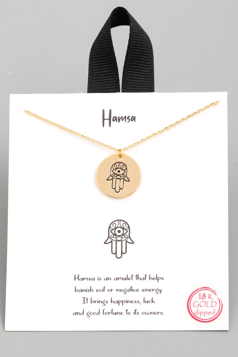 Hamsa Coin Pendant Necklace - Custom Commodity