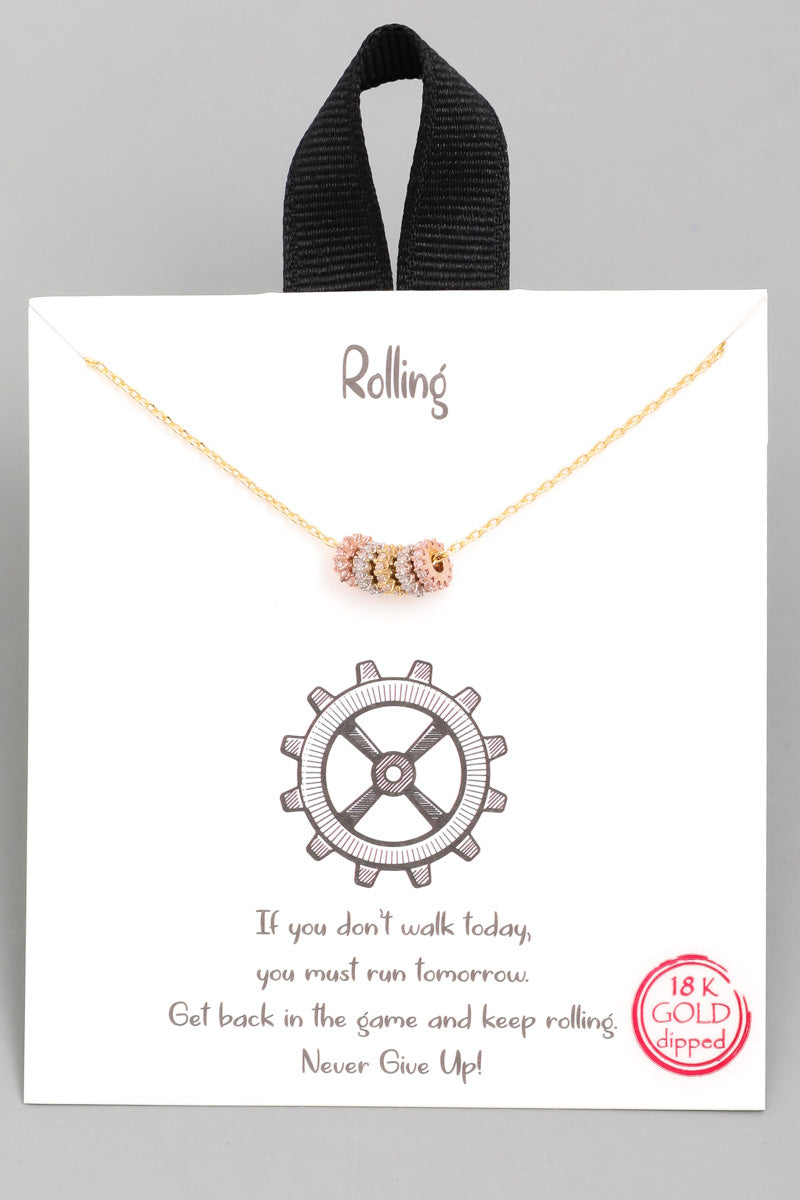 Mini Gear Cog Necklace - Custom Commodity