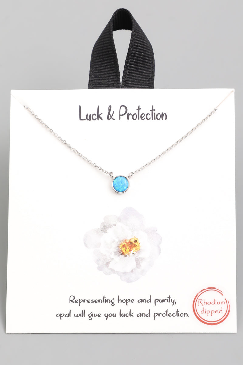 Luck & Protection Stone Pendant Necklace - Custom Commodity