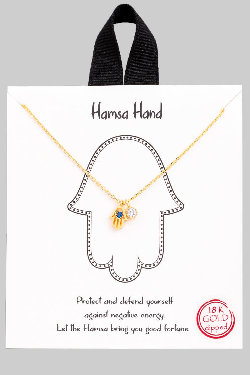Hamsa Hand Pendant Necklace - Custom Commodity