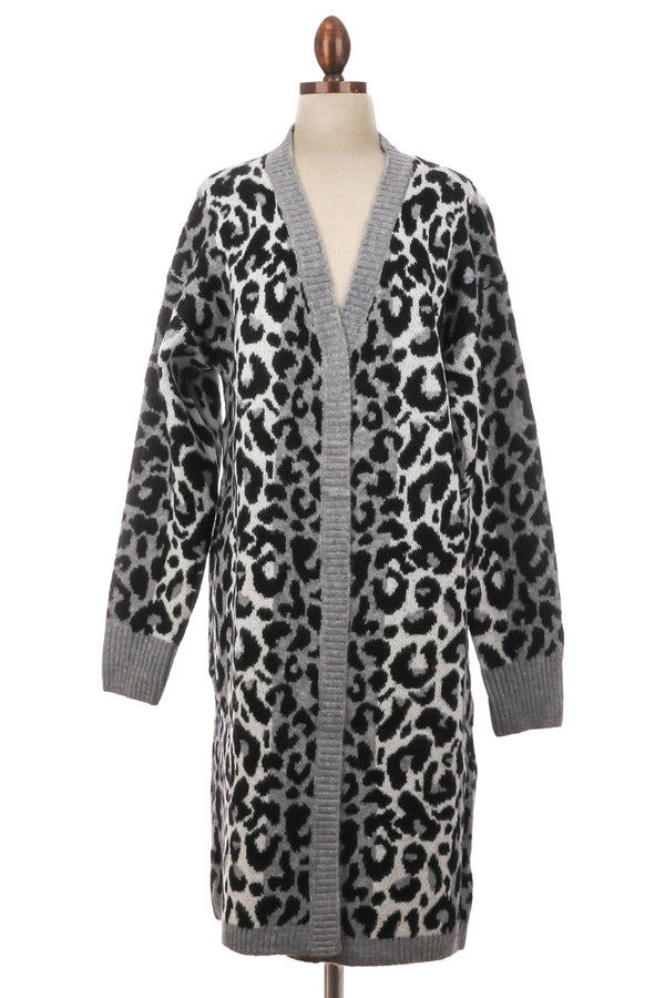 Long Leopard Print Coat - Custom Commodity