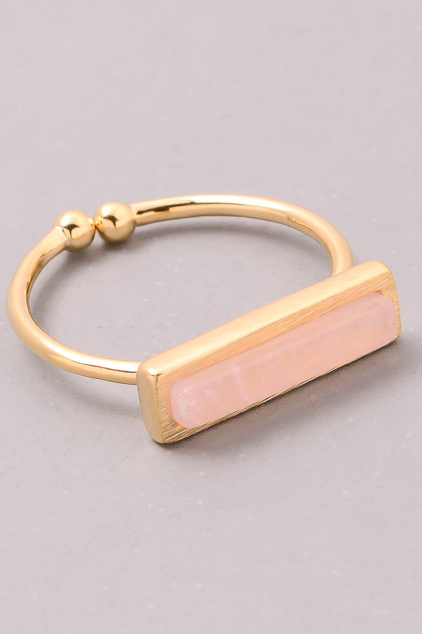 Natural Stone Bar Ring. - Custom Commodity