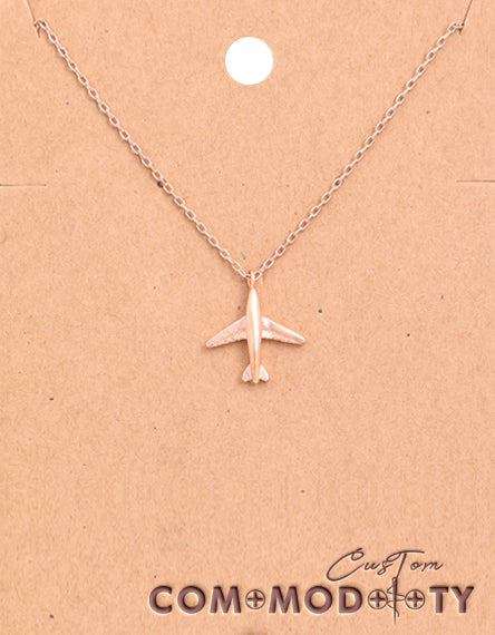 Airplane Pendant Necklace - Custom Commodity
