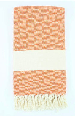 Handwoven Turkish Diamond Pattern Towel - Custom Commodity