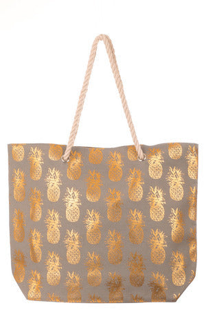 Pineapple Square Tote Bag - Custom Commodity