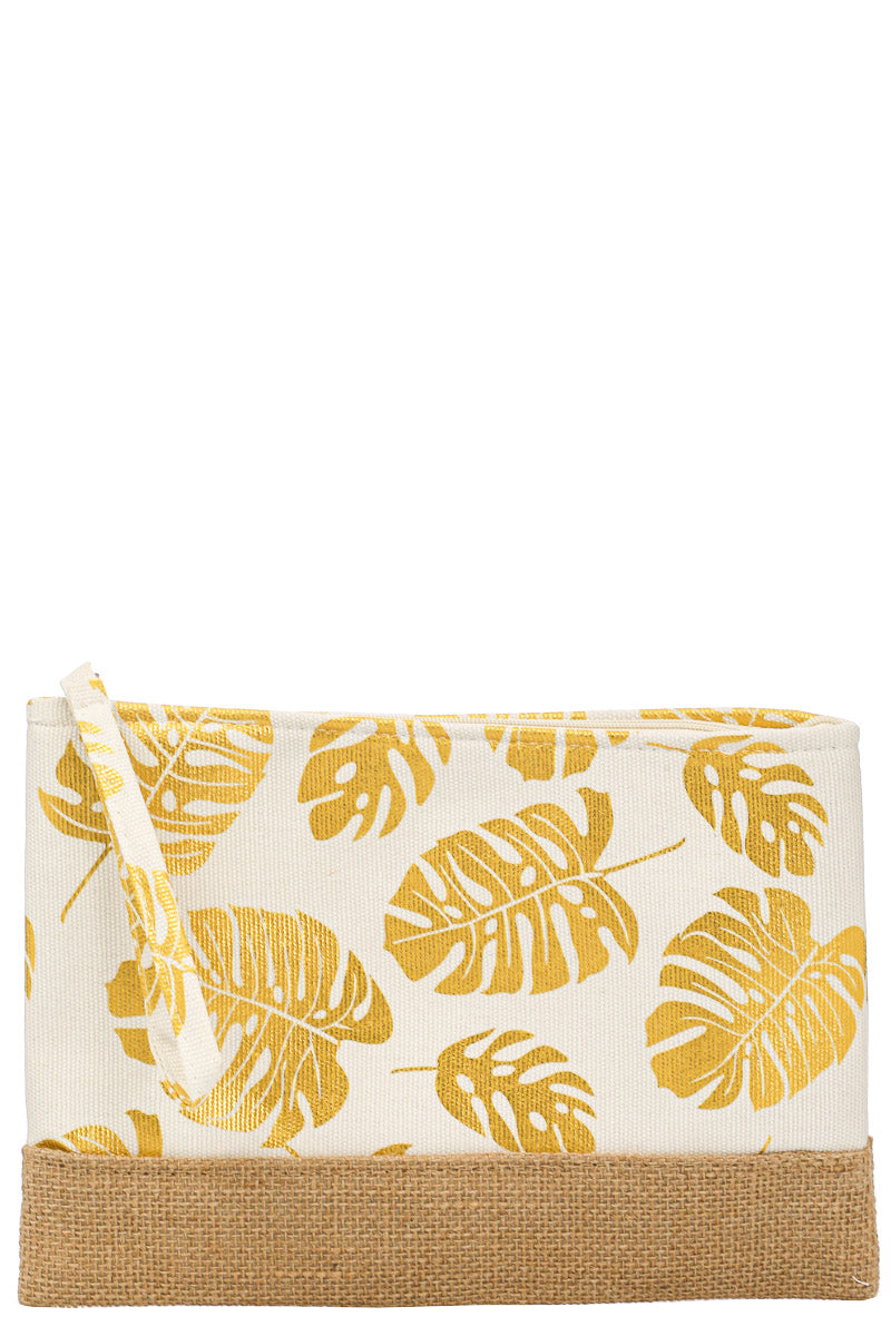 Monstera Print Cosmetic Bag - Custom Commodity