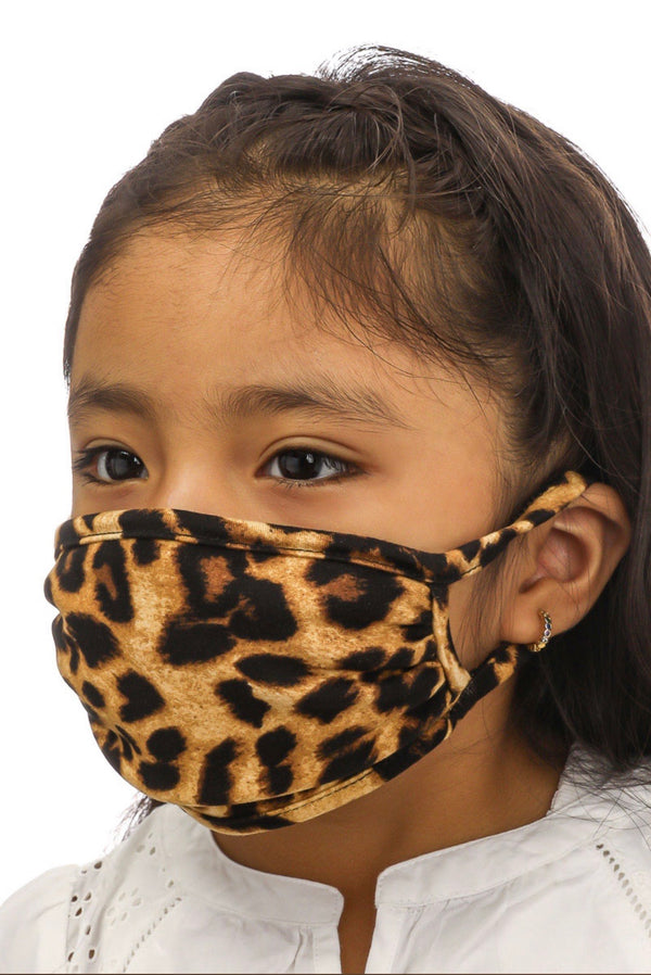 Kids Handmade Cheetah Print Face Mask - Custom Commodity