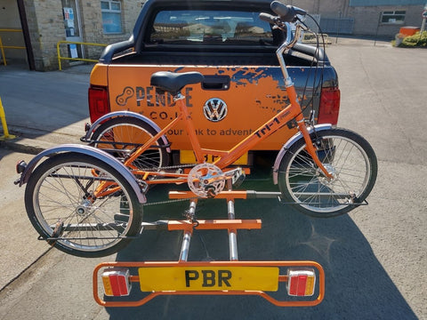 Pendle trike rack from the back