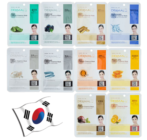 DERMAL Collagen Essence Face Mask Assorted 5 Pack - Yes! You Beauty