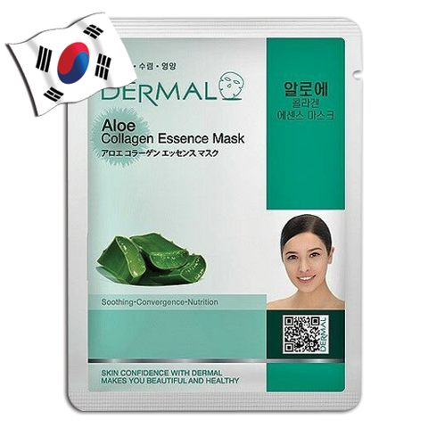 DERMAL Aloe Collagen Essence Face Mask - Yes! You Beauty
