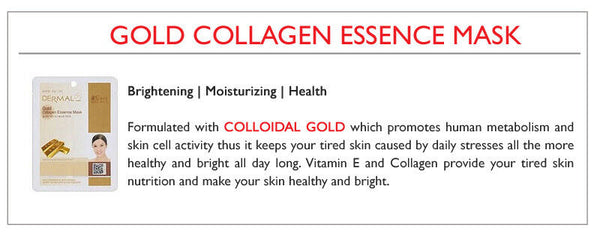 DERMAL Gold Collagen Essence Face Mask - Yes! You Beauty