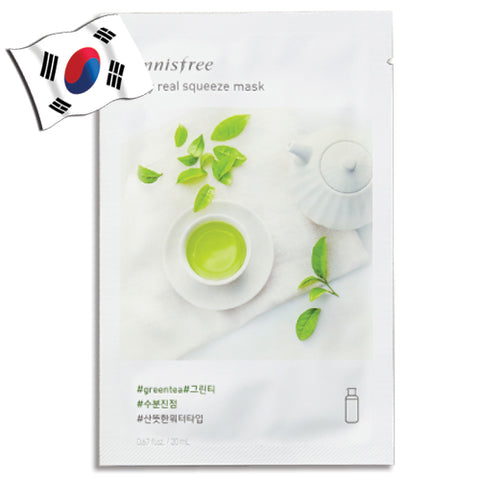 INNISFREE My Real Squeeze Green Tea Face Mask - Yes! You Beauty