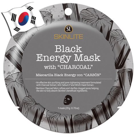 SKINLITE Intense Black Energy Face Mask with Charcoal (Circle Shaped) - Yes! You Beauty