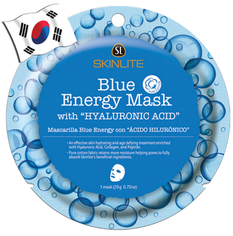 SKINLITE Intense Blue Energy Face Mask with Hyaluronic Acid (Circle Shape)