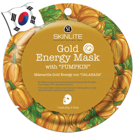 SKINLITE Intense Gold Energy Face Mask with Pumpkin (Circle Shape)
