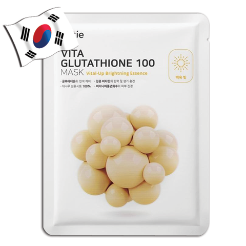 OTTIE Vita Glutathione 100 Mask - Vital-Up Brightening Essence - Yes! You Beauty