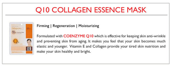 DERMAL Q10 Collagen Essence Face Mask - Yes! You Beauty