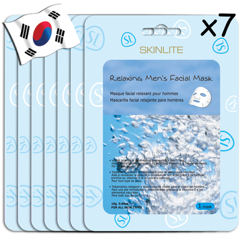 SKINLITE Relaxing Mens's Facial Mask 7 Pack