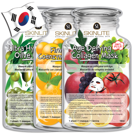 SKINLITE Bottle Shaped Face Mask Packs