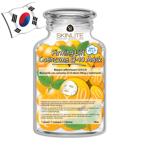 SKINLITE Firming Lift Coenzyme Q-10 Face Mask (Bottle Shaped)