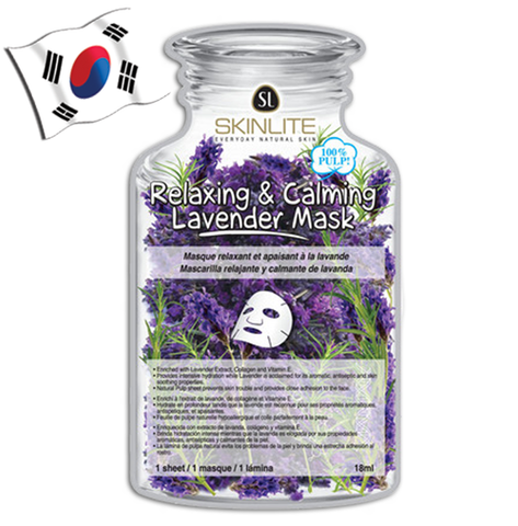SKINLITE Relaxing & Calming Lavender Face Mask (Bottle Shaped)